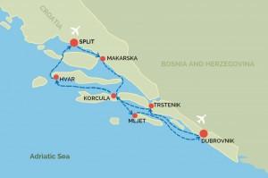 Croatian Inter Island Cruise Itinerary